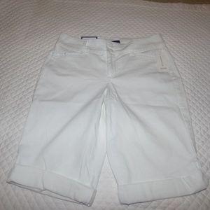 Charter Club Cuffed Bermuda Shorts, White, 6
